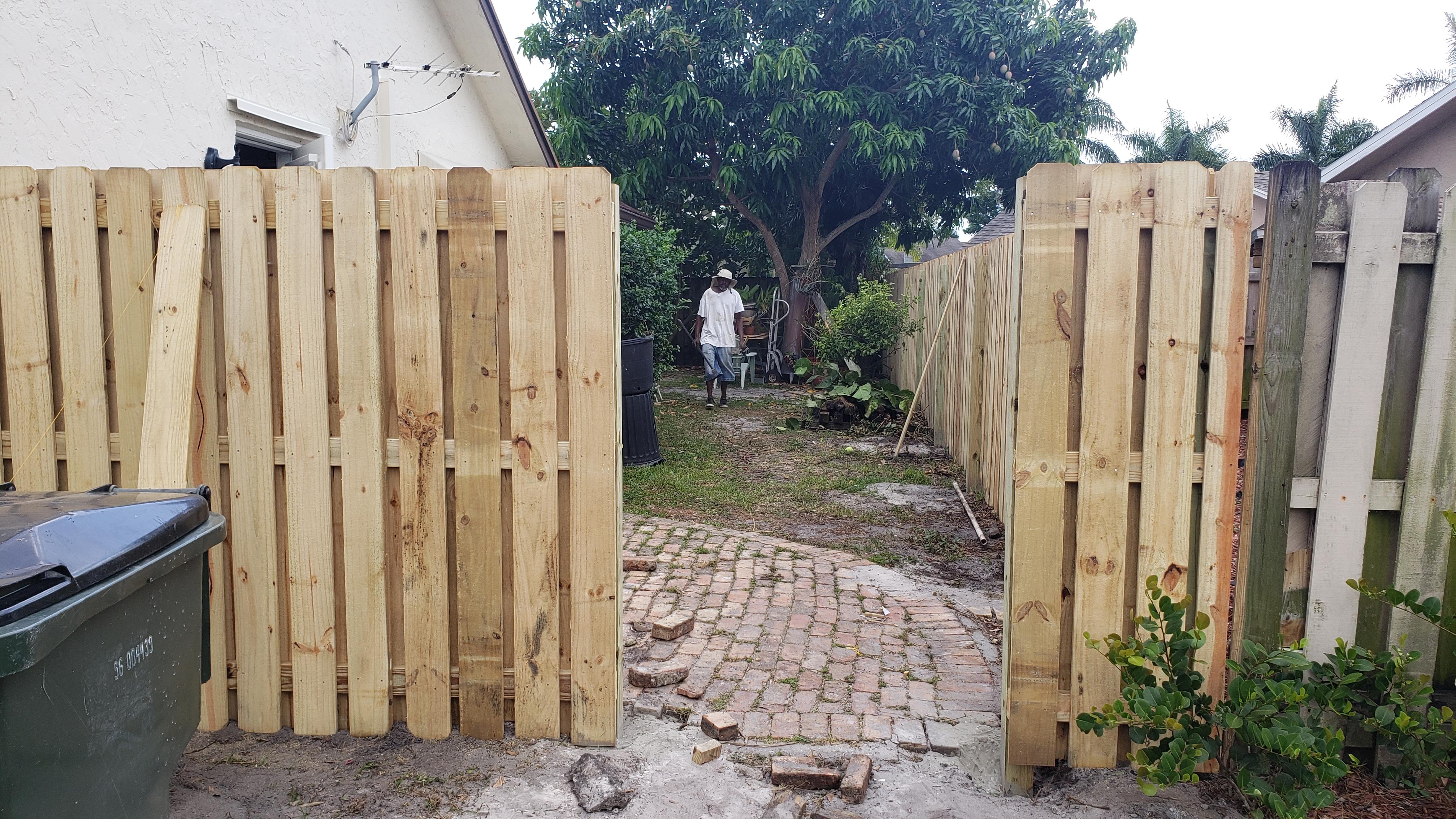 houston wood fence gate styles